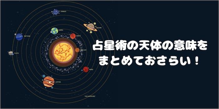 ホロスコープ占星術天体まとめ